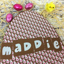 Large Personalised Chocolate Easter Egg Bunny Design