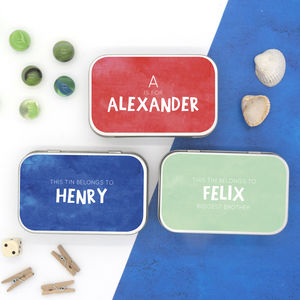 Personalised Bright Colours Messages Keepsake Tin