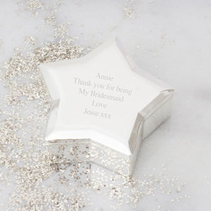 Personalised Silver Plated Star Trinket Box