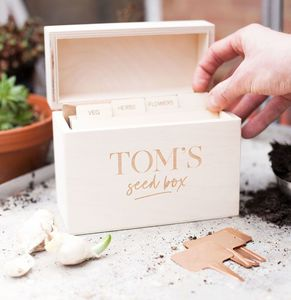 Personalised Gardener's Seed Box