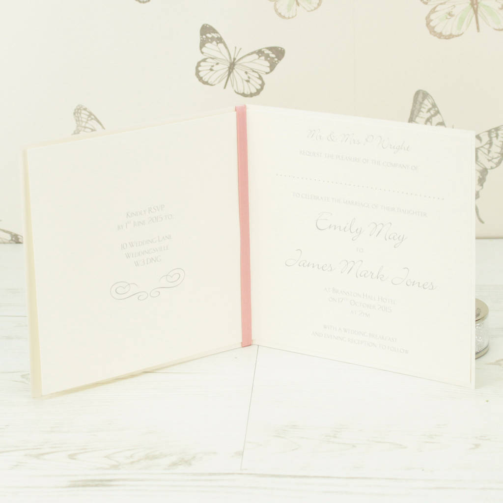 Bride And Groom Wedding Invitation By Dreams To Reality Design Ltd