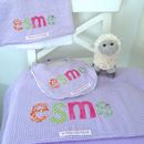 Personalised Baby Gift set - lilac