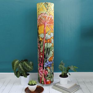 Stunning Tropical Botanics Meter High Floor Lamp - bedroom
