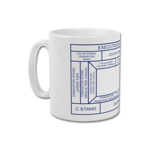 'Baseball Gd Ticket Stub' Minimalist Derby County Mug - dining room