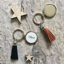 Leather Tassle Personalised Keyring