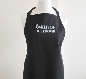 Queen/King Of The Kitchen Embroidered Apron - sweatshirts & hoodies