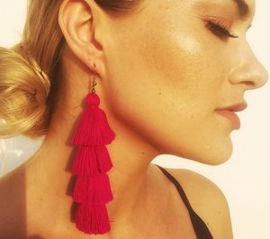 Tassel Earrings In Kiss