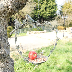 Hanging Heart Bird Dish - gifts for mothers
