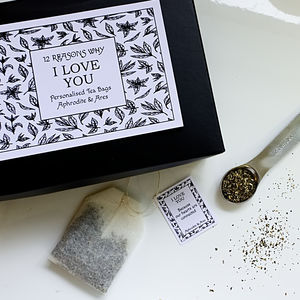 12 Reasons Why I Love You Personalised Tea Gift Set