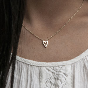 Heart 9k Gold Necklace