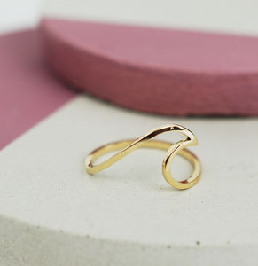 Yellow Gold Wave Ring