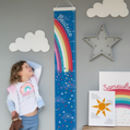 Personalised Rainbow Canvas Height Chart