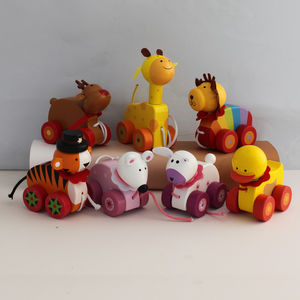 Handcrafted Pull Along Animal - push & pull along toys