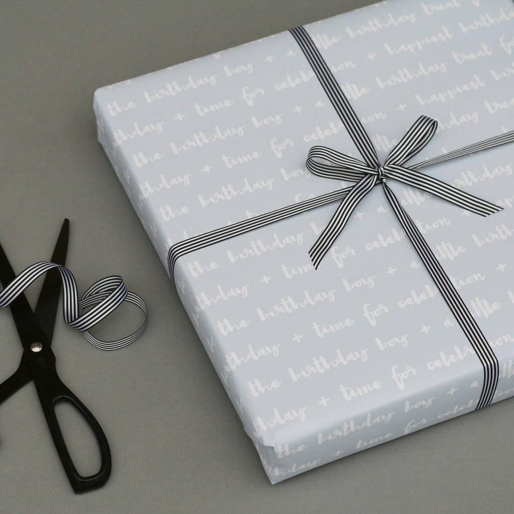 Luxury Birthday Boy Wrapping Paper