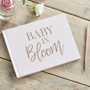 Rose Gold And Blush Baby In Bloom Guest Book