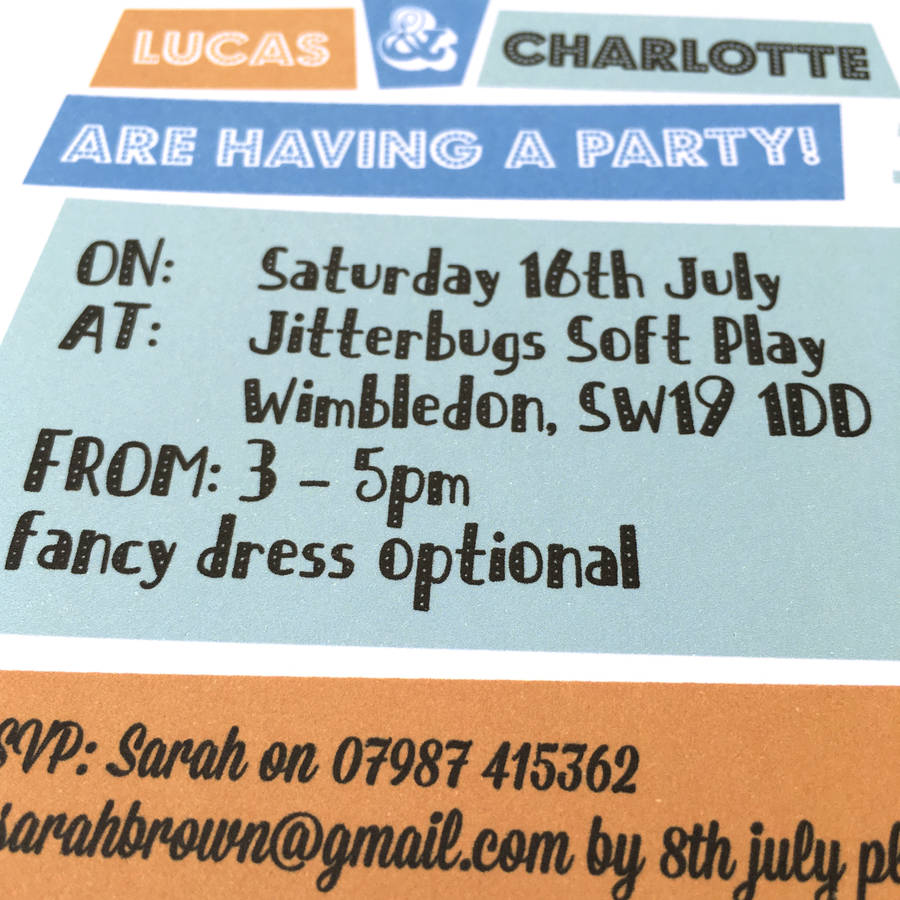 pack of personalised lion party invitations by little ink ...