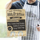 Personalised BBQ Chalkboard Sign With Hooks