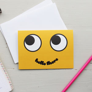 Hello There Smiley Face Card - blank cards