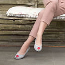 Barbican Grey Canvas Ballet Flats