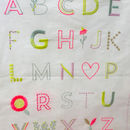 Alphabet Embroidered Wall Sampler