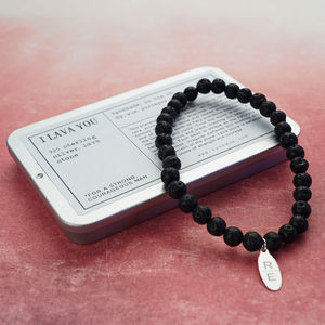 Personalised I 'Lava' You Bead Bracelet