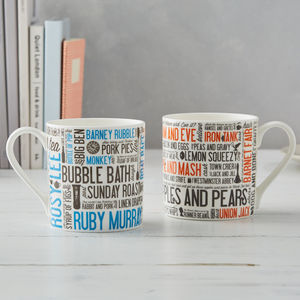 Cockney Rhyming Slang Mug - kitchen