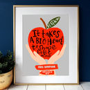 Personalised Best Teacher Apple Print