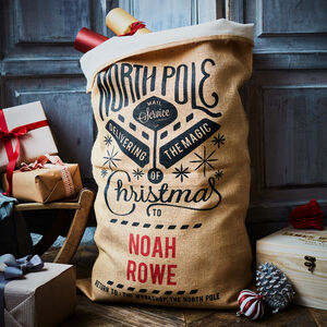 The Cotton Lined Grenville Personalised Christmas Sack