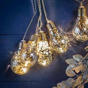 LED String Of Silver Light Bulbs - children's lighting
