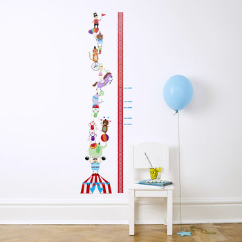 Circus Height Chart Wall Stickers