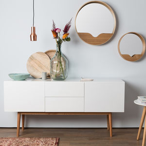 Scandinavian Two Drawer And Two Door Sideboard - kitchen