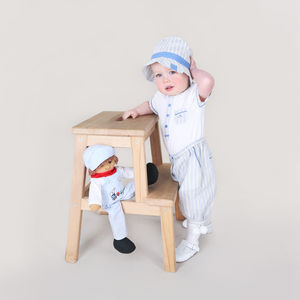 Baby Boy French Designer Three Piece Stripe Outfit - outfits & sets