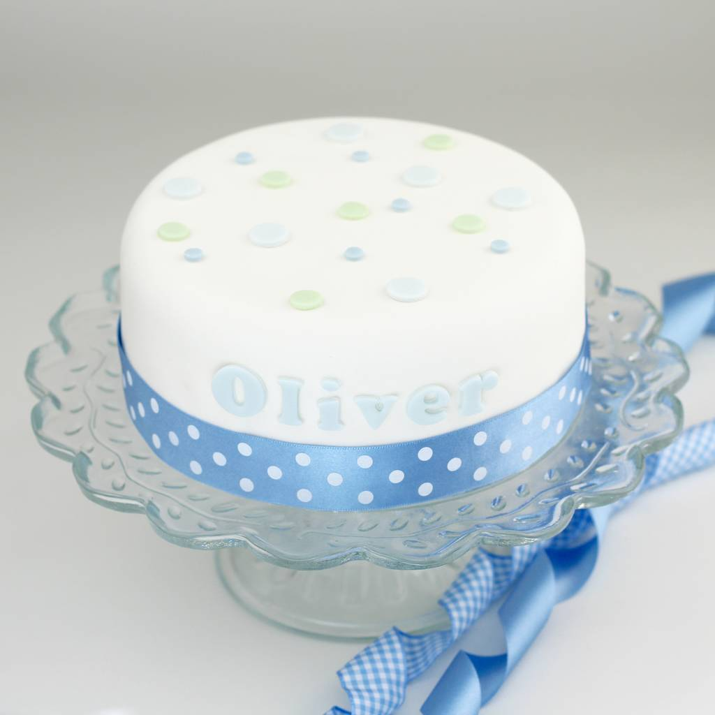 Any Name Cake Decoration For A Boy