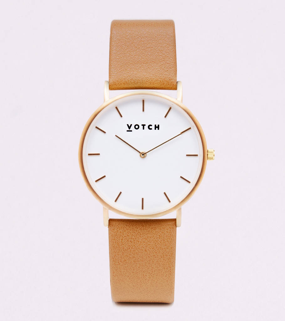 Classic Gold Vegan Leather Watch