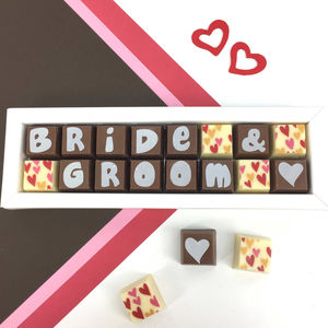 Personalised Chocolates For WEDDINGS - chocolates