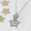 Personalised Sterling Silver Double Star Pendant