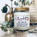 Personalised Thank You Handmade Scented Soy Candle