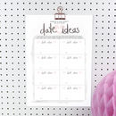 Personalised Hen Party Date Ideas Jar Printable