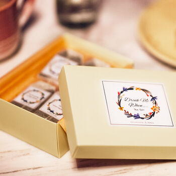 'Drink Me When' Personalised Message Tea Gift Set