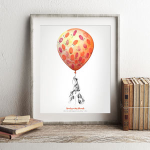 Family Balloon Fingerprint Keepsake