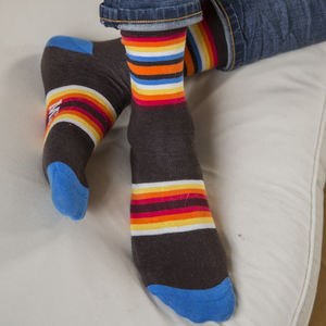 Sunset Multi Stripe Fine Sock - underwear & socks