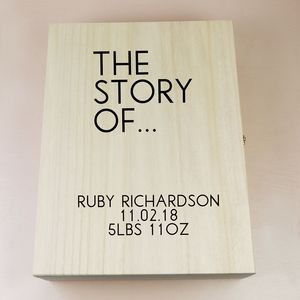 Personalised 'The Story Of' Hamper Box - keepsake boxes