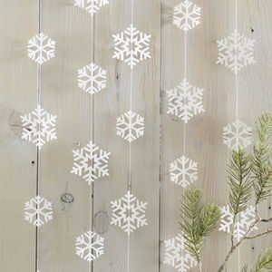 Snowflake Shaped Garland Christmas