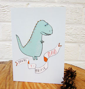 'T Rrific Dad' Greeting Card - winter sale