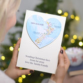 Personalised Map Wedding And Anniversary Heart Card - cards