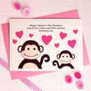 'Little Monkey' First Mothers Day Card