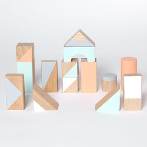 Pastel Large Wooden Blocks - new in baby & child