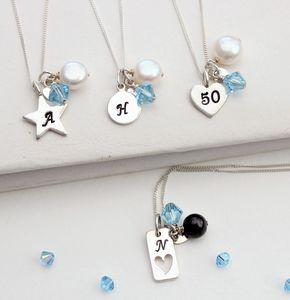 Personalised Birthstone And Silver Charm Necklace - charm jewellery