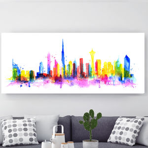 Dubai, Canvas Art - modern & abstract