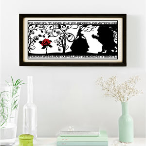 The Beauty Of A Beast Signed Papercut Print - baby & child sale